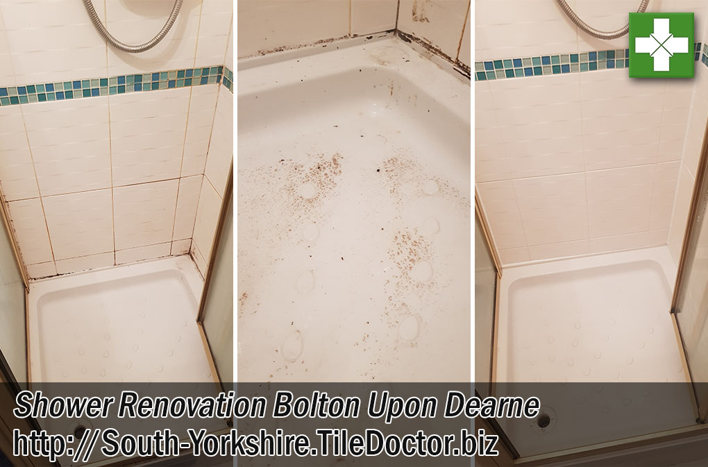 Shower-Cubicle Before After Renovation Bolton-Upon-Dearne